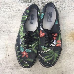 Men's Hawaiian Floral Print Vans | Size 14
